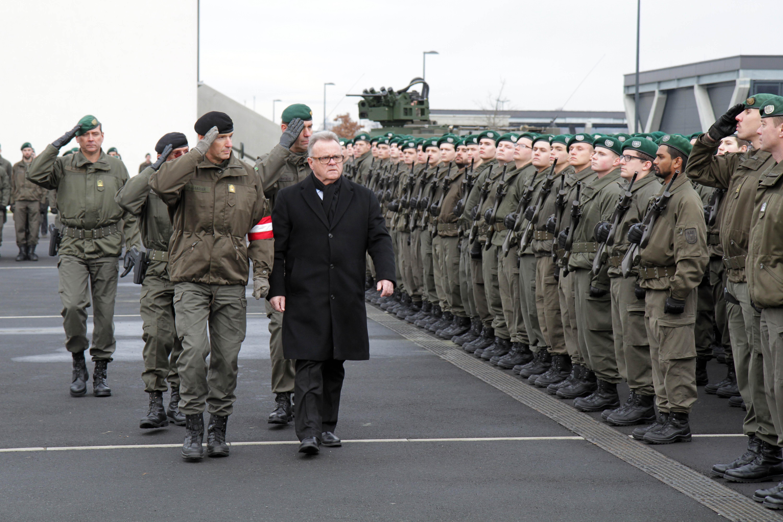 Güssing Neue Rekruten Angelobt Burgenlandat